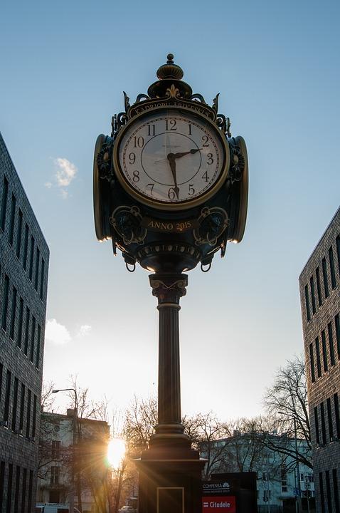 clock, architecture, megalopolis