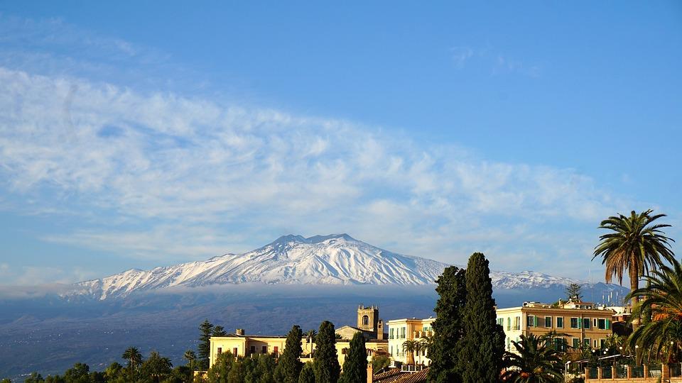 etna, volcano, sicily
