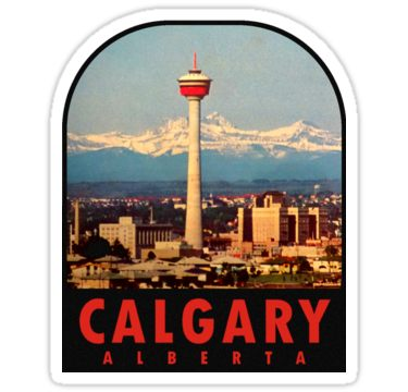 Calgary Alberta Canada Vintage Travel Decal Sticker