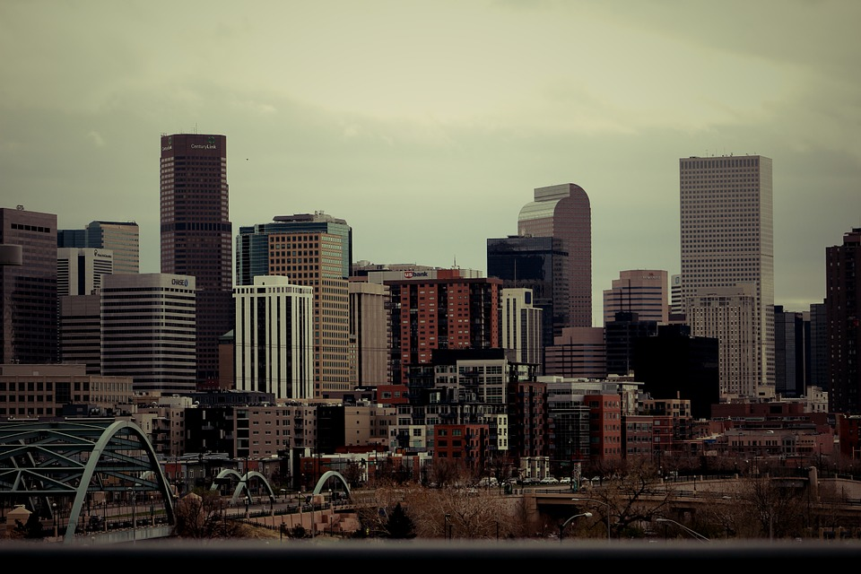 denver, skyline, city