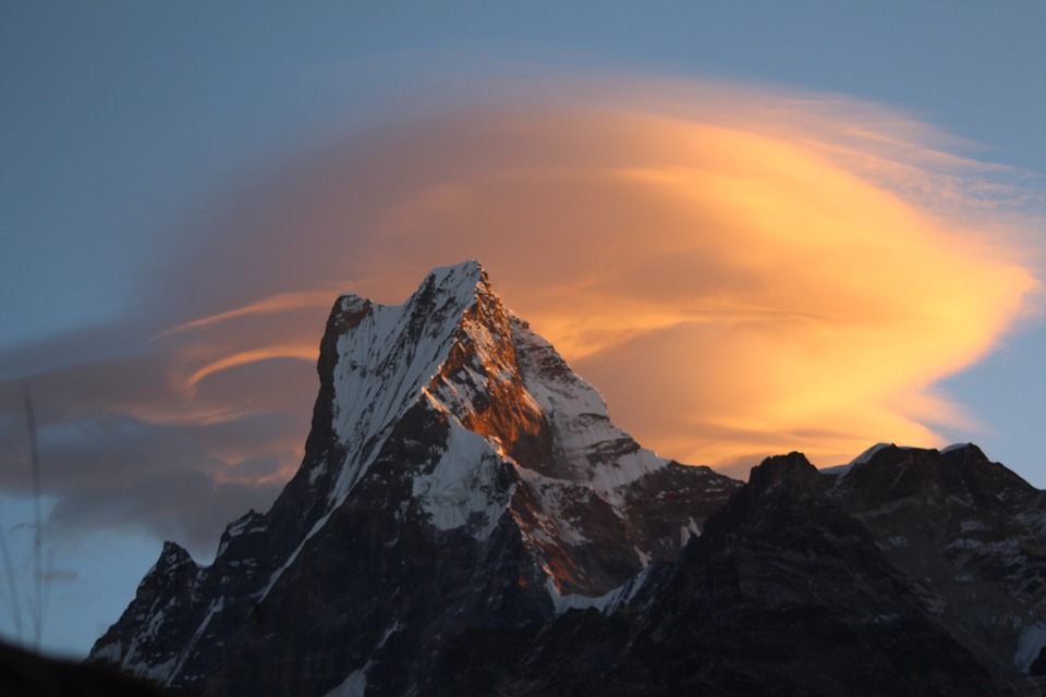 fishtail, mountain, nepal