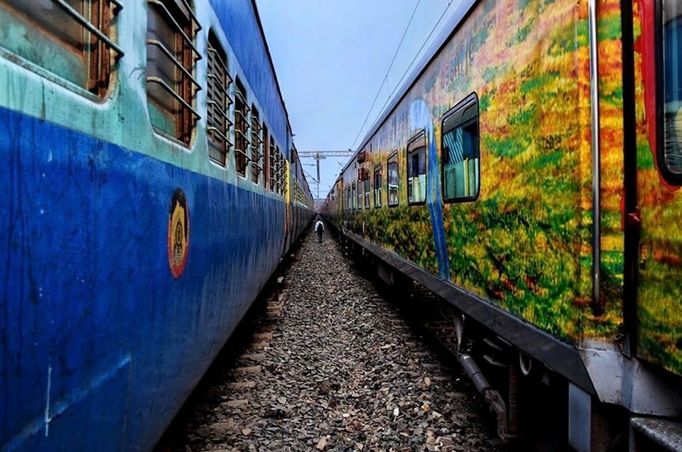indian, railway, train