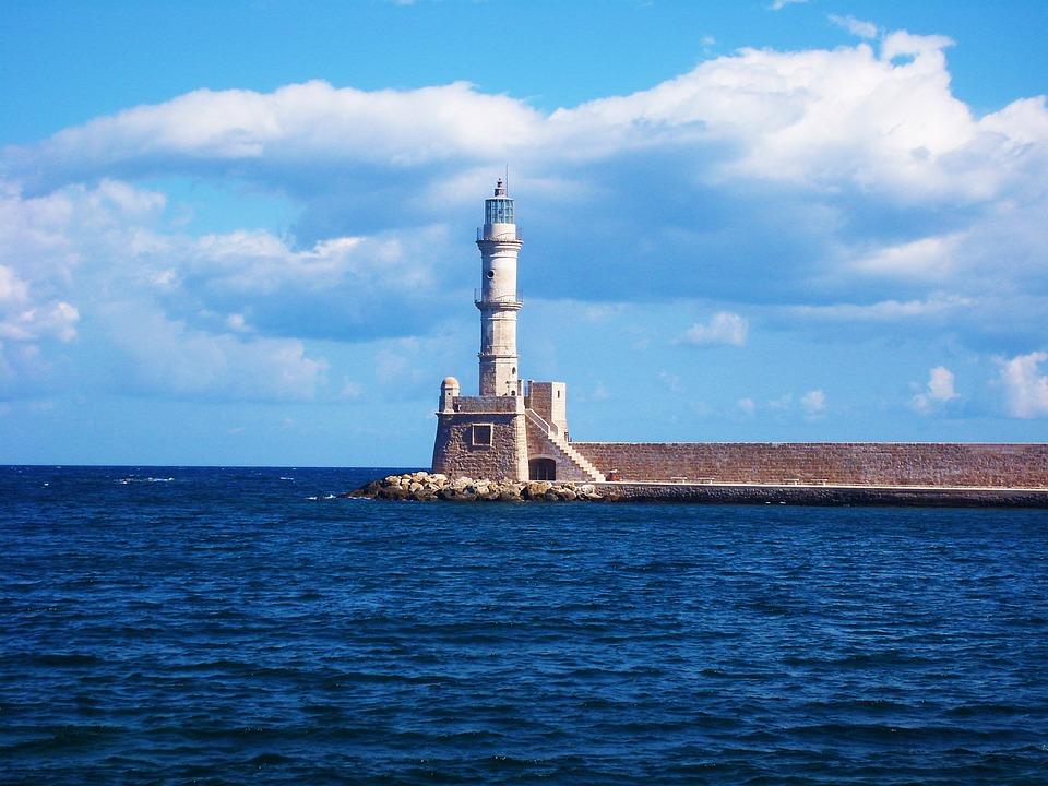 lighthouse, sea, greece