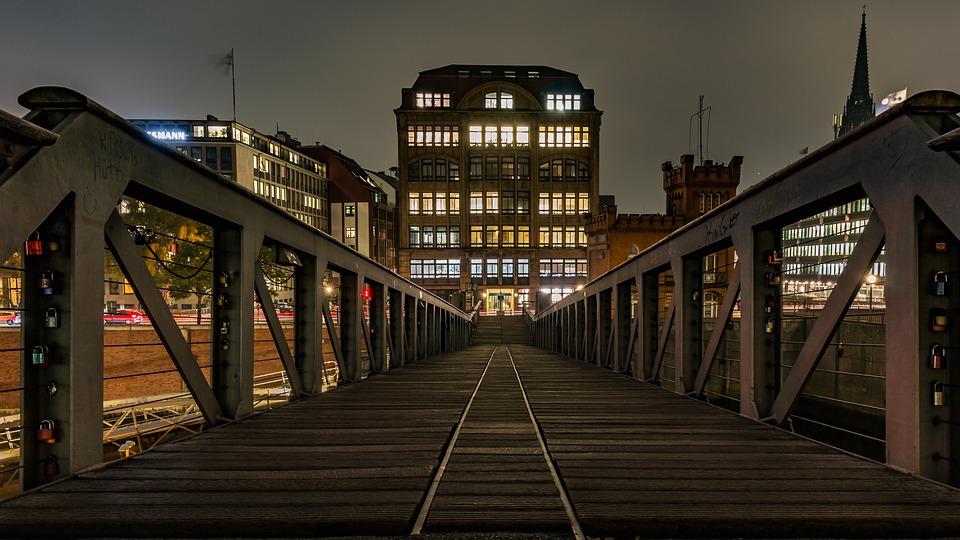 speicherstadt, hamburg, bridge