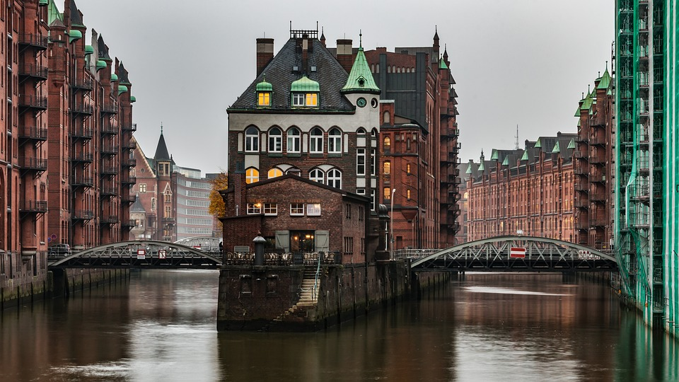 speicherstadt, hamburg, castle