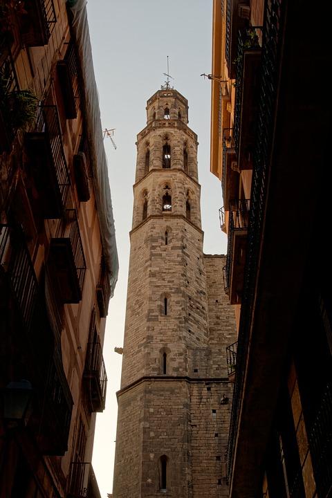 steeple, barcelona, catalonia