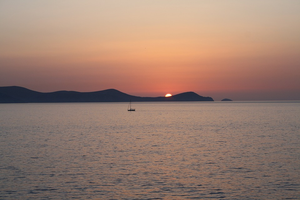 sunrise, dia island, crete