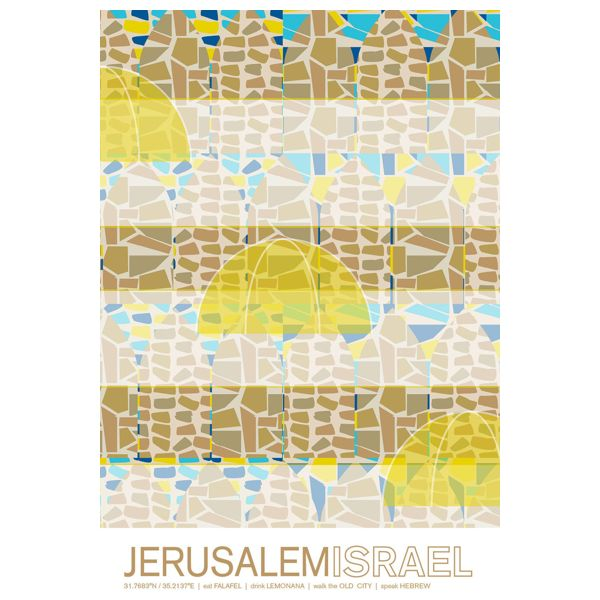 "Jerusalem, Israel Travel Poster, 8""x10"""
