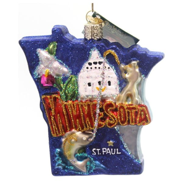 Old World Christmas State of Minnesota Ornament St Paul Travel Usa 36185