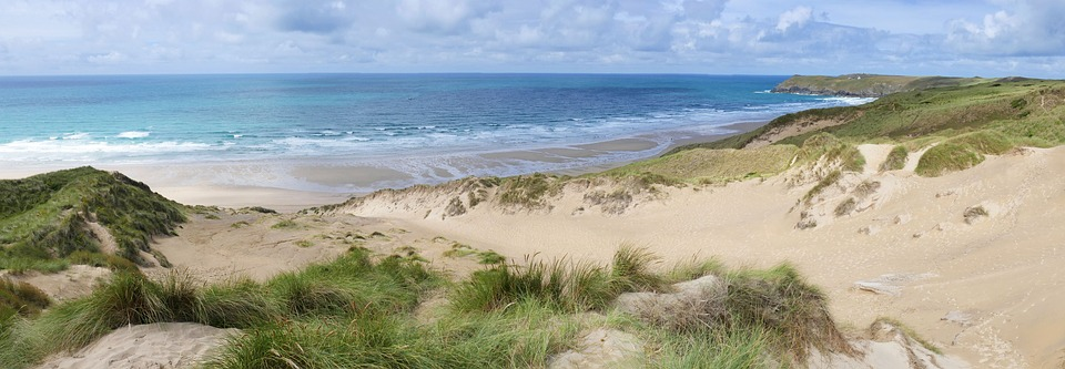 penhale sands, perranporth, cornwall