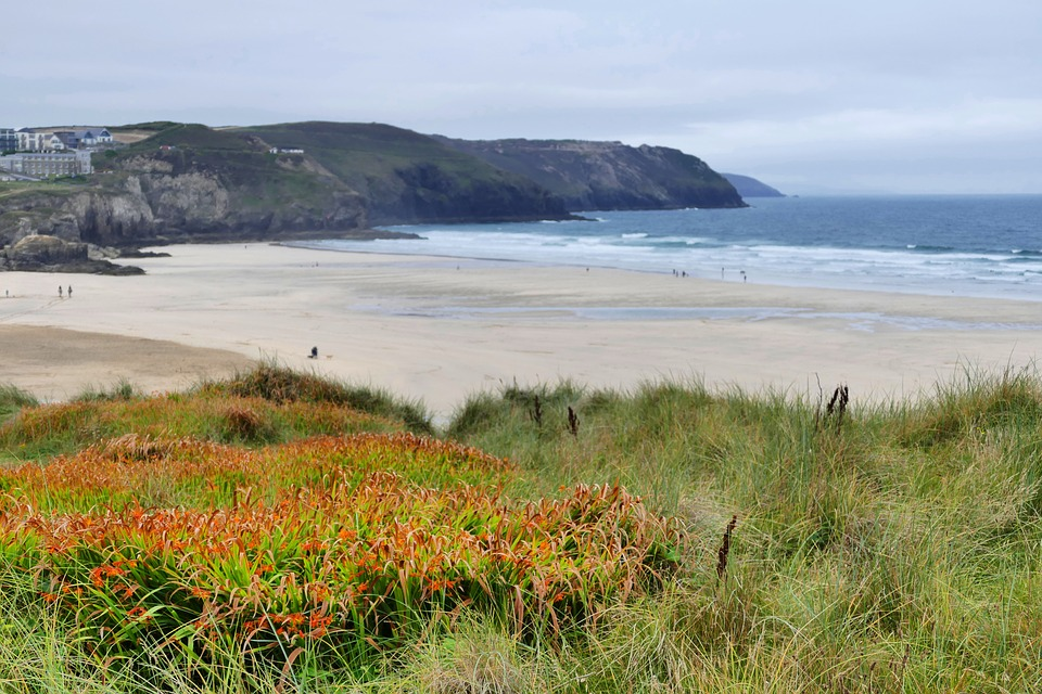 penhale sands, perranporth, perranporth beach