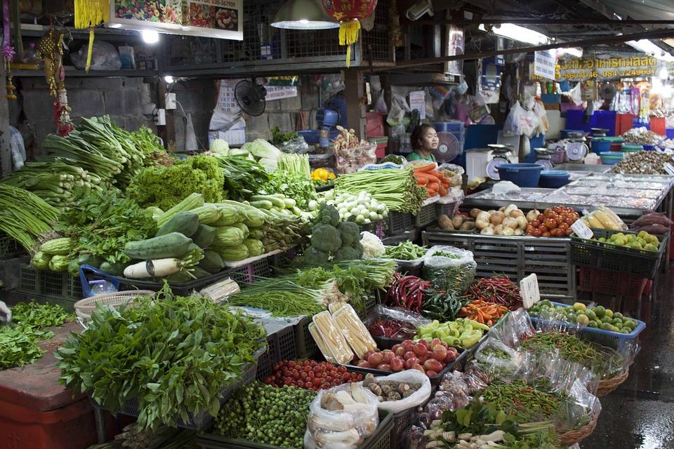 thailand, market, vegetable