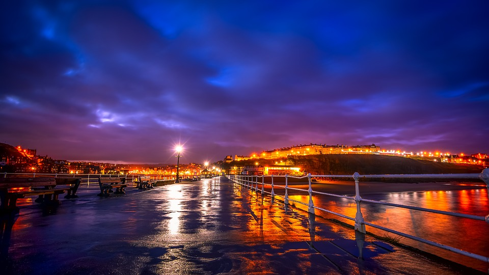 blue hour, whitby, north yorkshire