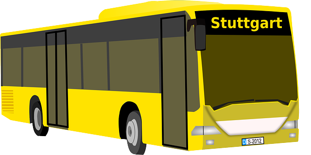 bus, yellow, automobile