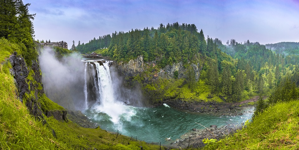 snoqualmie, falls, waterfalls