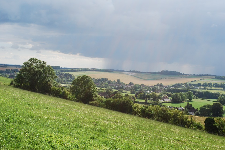 wiltshire, countryside, clouds
