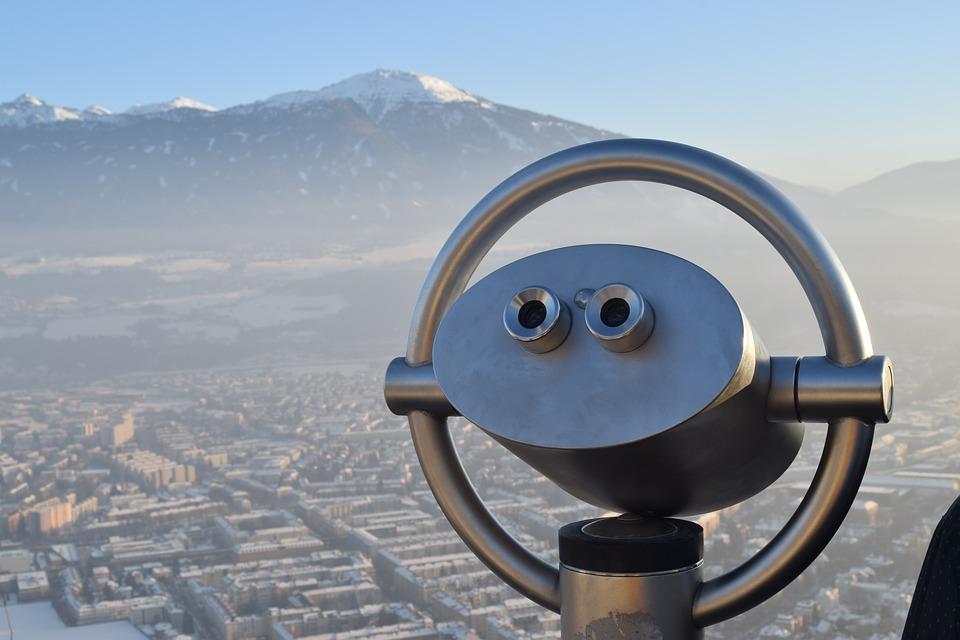 view, landscape, telescope