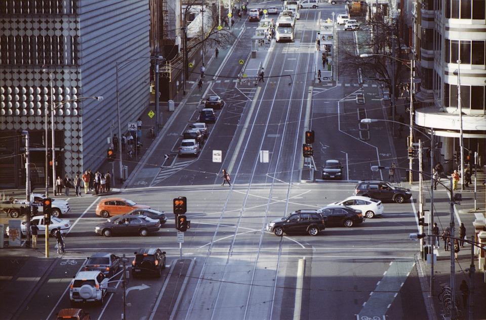 intersection, melbourne, cbd