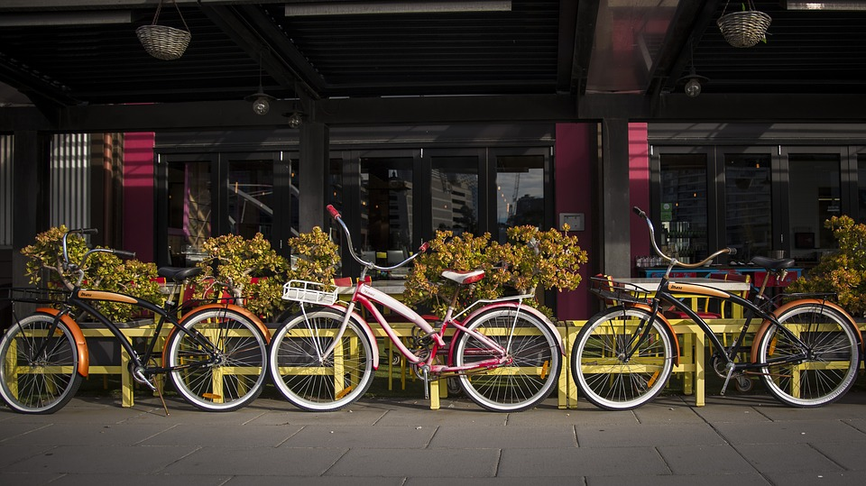 melbourne, south wharf, bicycle