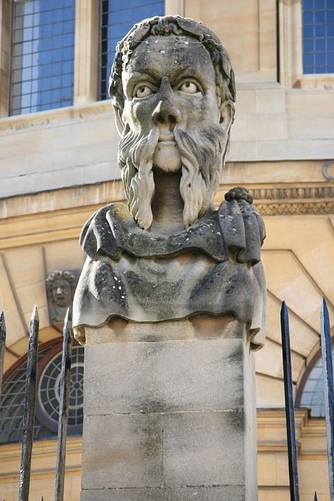 oxford, england, statue