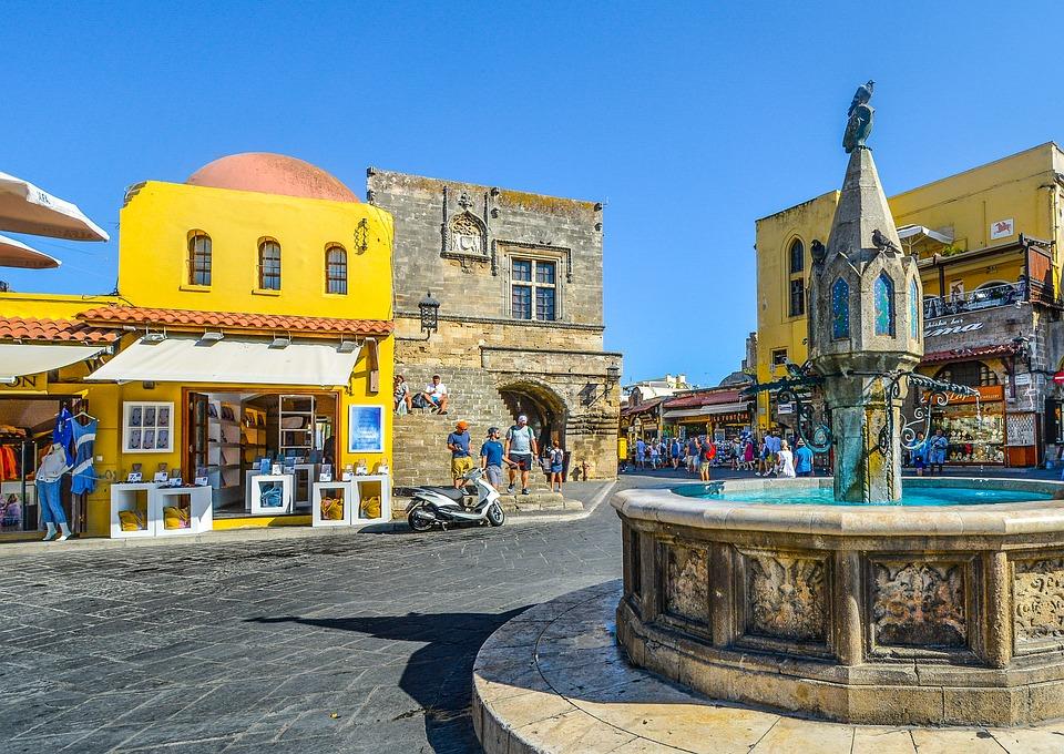 rhodes, greece, town