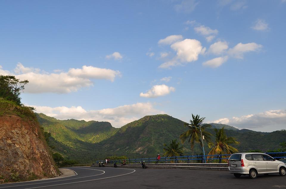 road, skyline, landscape