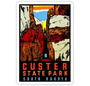 Custer State Park South Dakota Vintage Travel Decal Sticker