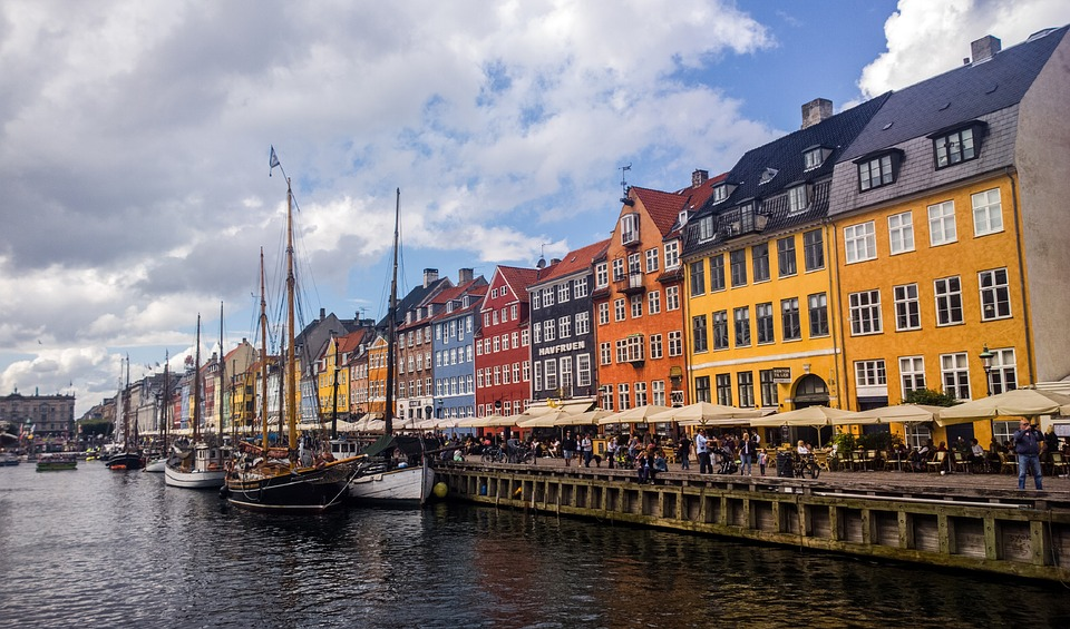 nyhavn, water, reflection