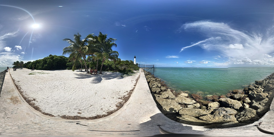 key biscayne, beach, nature