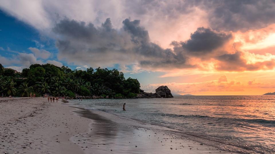 seychelles, paradise, sunset
