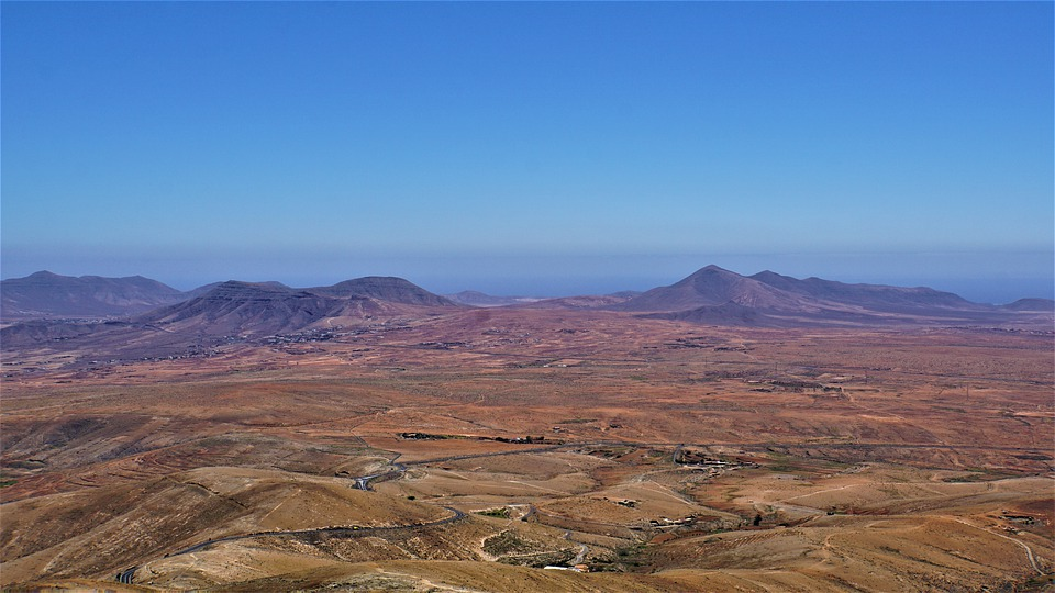 fuerteventura, mountains, sea