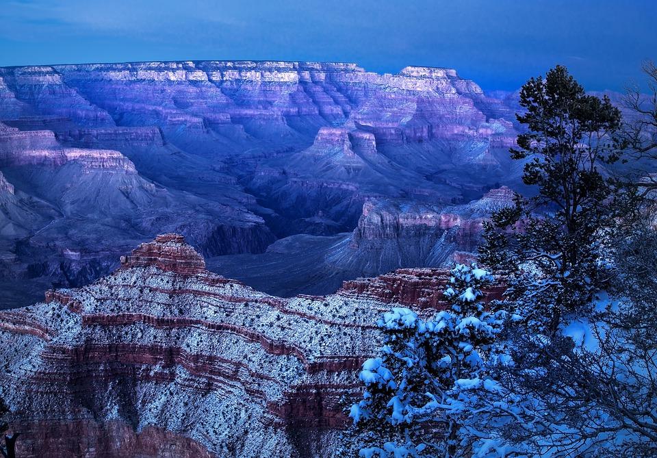 grand canyon, winter, arizona