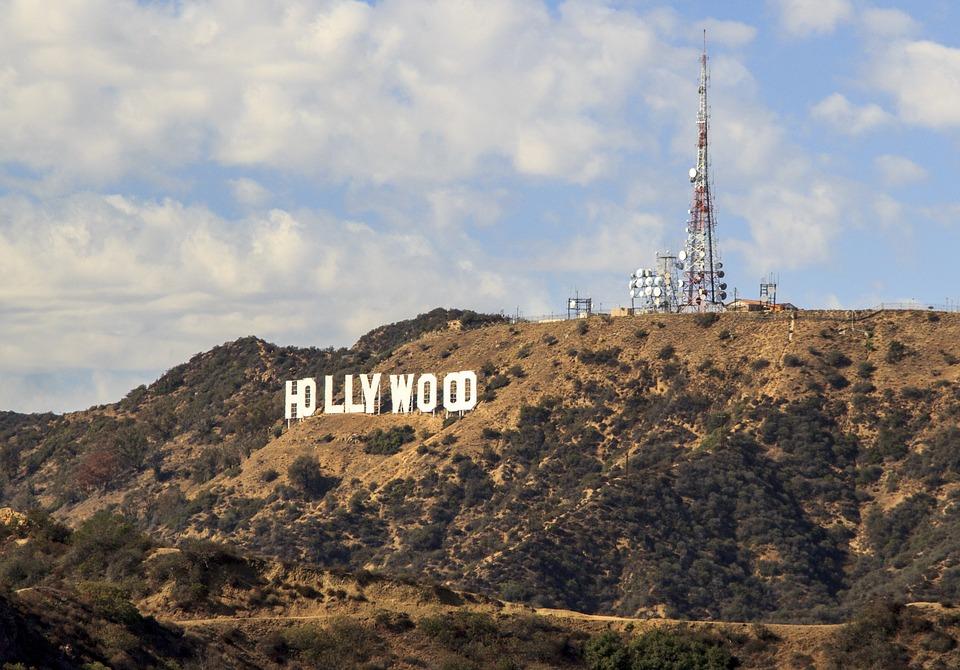 hollywood, sign, symbol