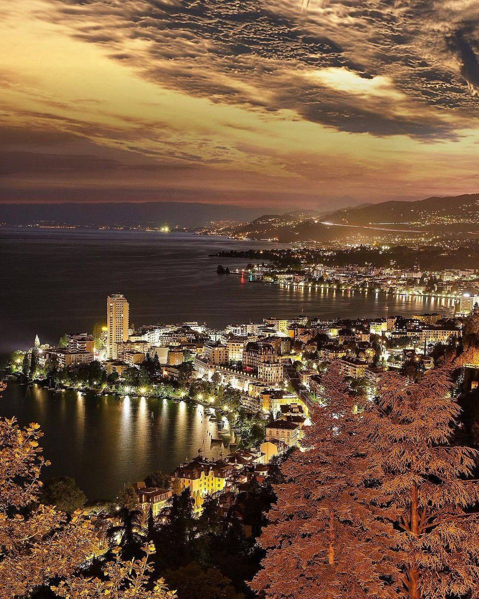 RT @travel: When night falls on Montreux, Switzerland. https://t.co/YL98eT8PKn