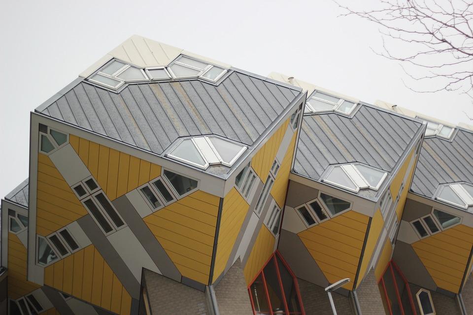 architecture, buildings, rotterdam