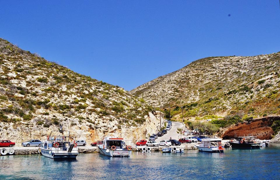 beautiful landscape, zakynthos island greece, port vromi