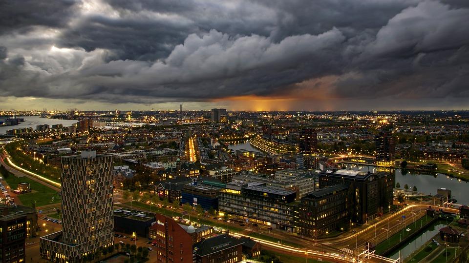city, panoramic, cityscape