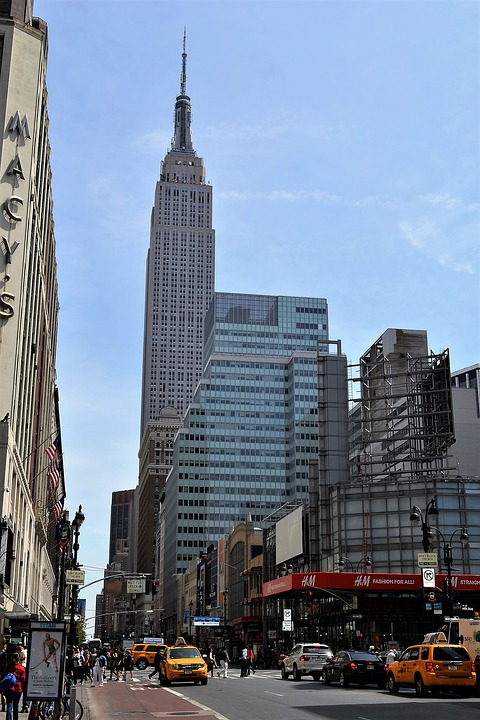 empire state building, new york city, manhattan