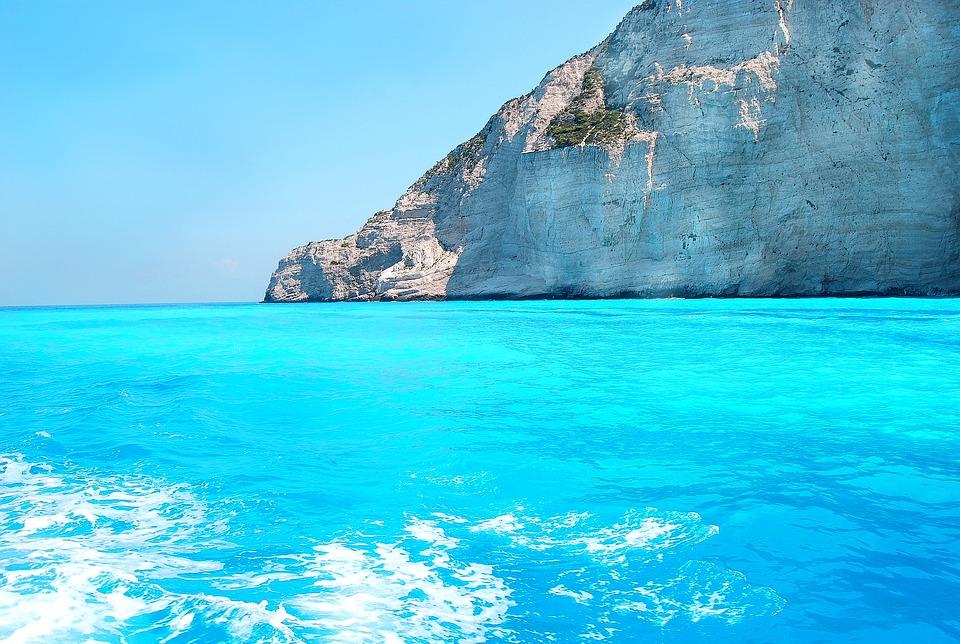 ionian sea, color blue, the mediterranean sea