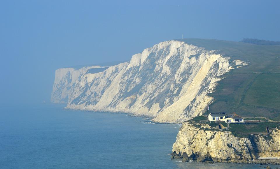 isle of wight, cliff, sea