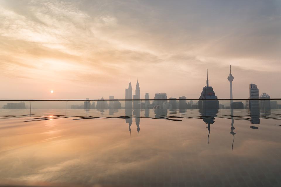 sunset, water, dawn