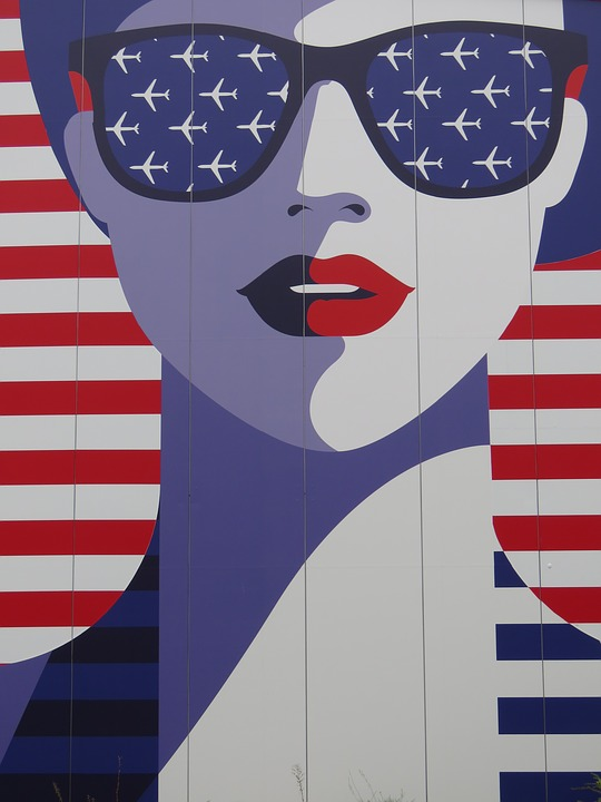 usa, woman, face
