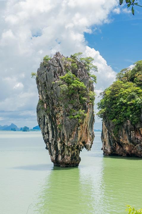 limestone cliff, phang nga bay, landscape