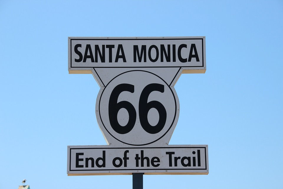 santa monica, 66, end of the trail
