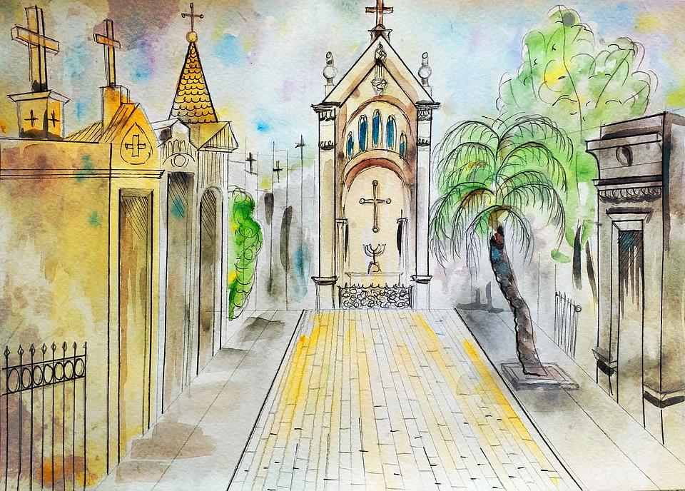 buenos aires, argentina, cementerio de la recoleta