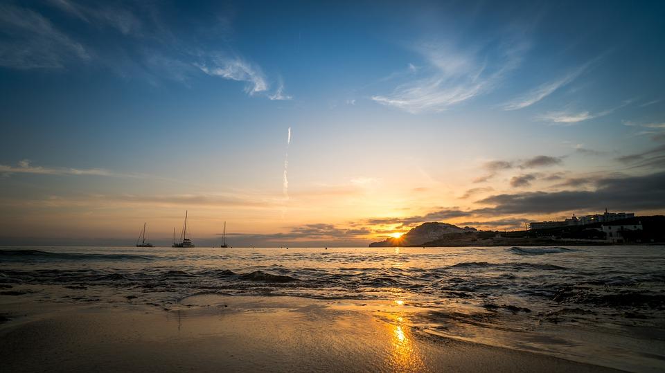 mallorca, sunrise, sea