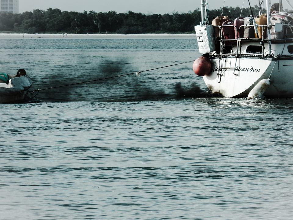 boat, sea, dinghy