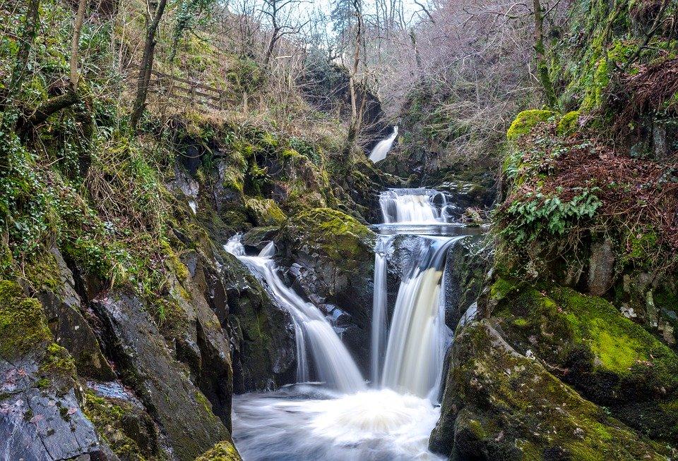 ingleton, waterfall, trail
