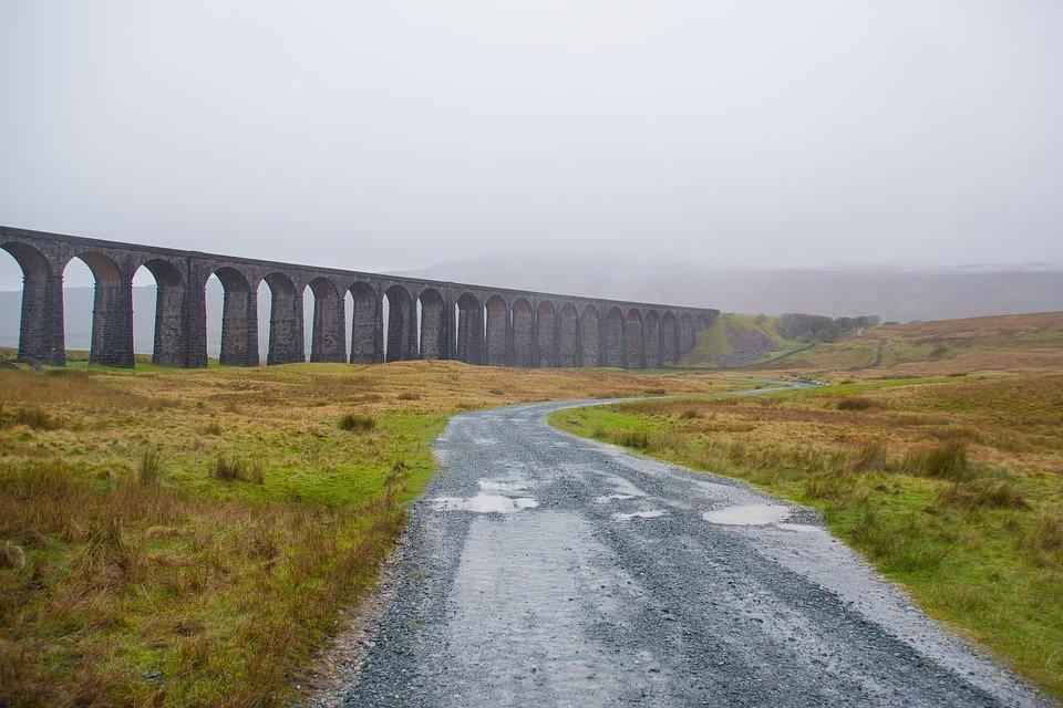 ribblehead viaduct, viaduct, railway bridge