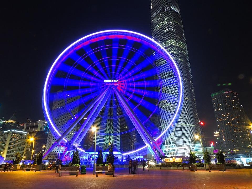hongkong, observation, wheel